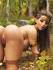 Those perfect half globes of her rear - Natural charm (Yaelenne and Maerenne) by Spektra3DX