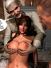 His erect cock slapped gently on her face - Lost bet (Petra helps the elderly) by Supafly